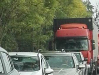 Incidente sulla via Emilia, traffico bloccato da Villa Masone a Reggio