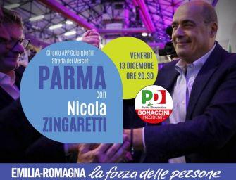 Regionali. Zingaretti con i candidati a Parma