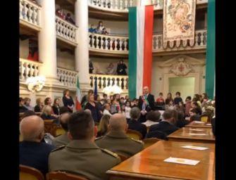 In Sala del Tricolore celebrazione del 223esimo della bandiera