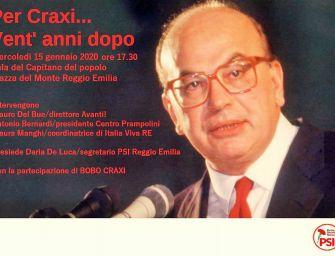Bobo Craxi e i socialisti reggiani ricordano Bettino