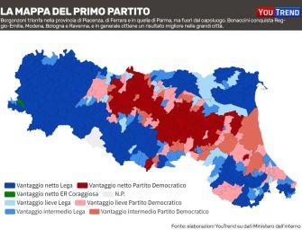Elezioni regionali in Emilia-Romagna, ecco la mappa del voto in regione