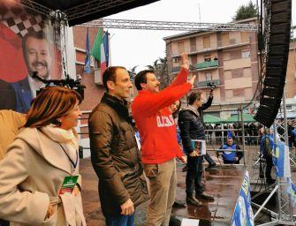 Salvini in rosso a Maranello: il voto del 26 è una scelta di vita