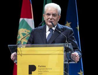 Parma 2020, Mattarella: cultura-dialogo