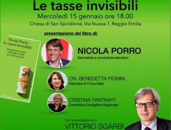 """""""Le tasse invisibili"""". Nicola Porro e Sgarbi a Reggio"""