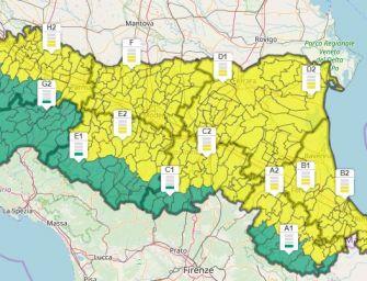 Allerta gialla per forti raffiche di vento su tutta l'Emilia-Romagna