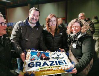 Salvini e Borgonzoni a Vignola