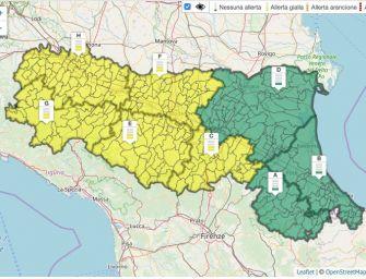 Lunedì 2 marzo in Emilia allerta gialla per pioggia, vento e neve (in Appennino)