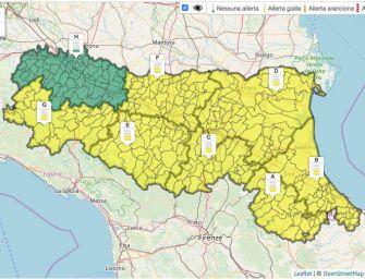 In Emilia-Romagna allerta gialla per pioggia, criticità idraulica e neve (sopra i mille metri)