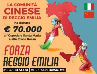Reggio. Covid-19, la solidarietà cinese