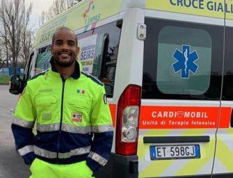 Nazionale azzurro di rugby e volontario della Croce Gialla