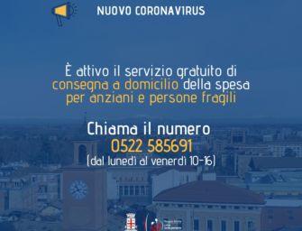 """A Reggio la """"Spesa a casa tua"""" per anziani, persone fragili e soggetti in quarantena"""