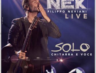 Nek: chitarra e voce dal vivo a Ferrara