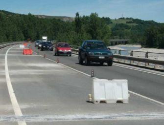 Baiso, sui viadotti Saltino e Cerredolo si torna a viaggiare a 70 km/h