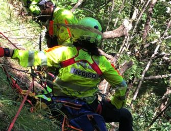 Monte Lancio. Escursionista di 26 anni cade per 20 metri lungo una parete rocciosa: ferito ma salvo