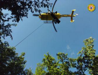 Fanano, bambino di 11 anni cade per 30 metri alle cascate del Doccione: trauma cranico, ma è salvo