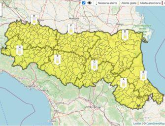 Lunedì 7 settembre allerta gialla per temporali su tutta l'Emilia-Romagna
