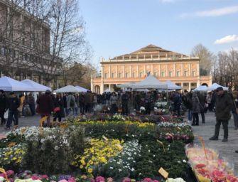 Reggio Emilia in fiore nel centro storico cittadino