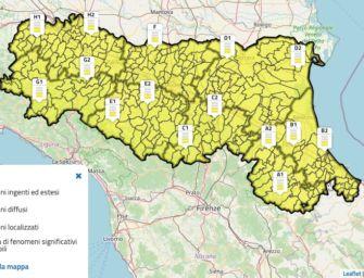 Giovedì 15 ottobre allerta meteo gialla per temporali in tutta l'Emilia-Romagna