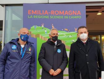 Nazionale italiana in visita al Core