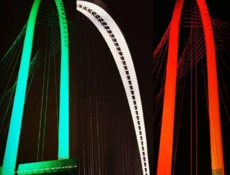 Sabato è la giornata contro la Sla, a Reggio i ponti di Calatrava si tingono di verde