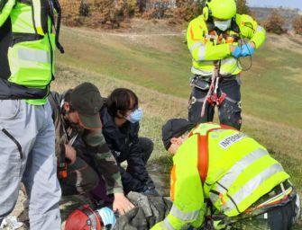 Cacciatore cade in un calanco sul monte Bradisnera (Baiso): trasportato a Parma in gravi condizioni
