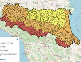 Maltempo, allerta rossa per vento e arancione per neve in Emilia