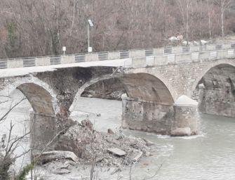 A Pavullo nuovo cedimento della struttura del ponte Samone, già danneggiata dalla piena di inizio dicembre