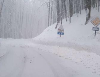 Ancora neve sull'alto Appennino, oltre un metro al Passo delle Radici