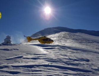 Scialpinista infortunato a una gamba sul monte Bragalata recuperato con l'elicottero