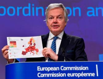Mappa europea contagi, ER è rossa