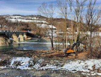 A Pavullo al via i lavori di deviazione del fiume Panaro per poter ripristinare la struttura del ponte Samone