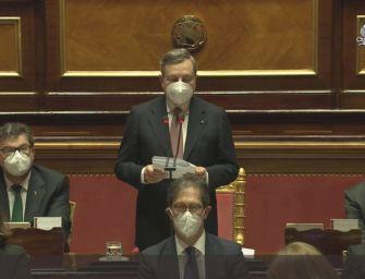 Mario Draghi al Senato per chiedere la fiducia