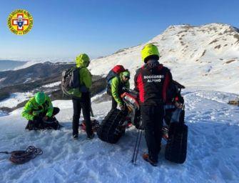 Restano bloccati sul crinale del monte Cimone: due 30enni salvati dal Soccorso alpino