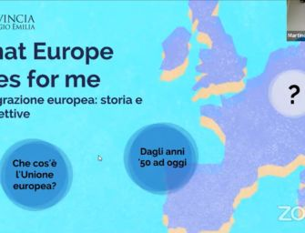 "Nelle scuole superiori reggiane riparte il percorso ""What Europe does for me"""