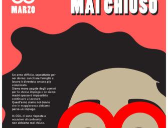 """8 marzo, al via la campagna di comunicazione della Cgil di Reggio """"Noi donne non abbiamo mai chiuso"""""""