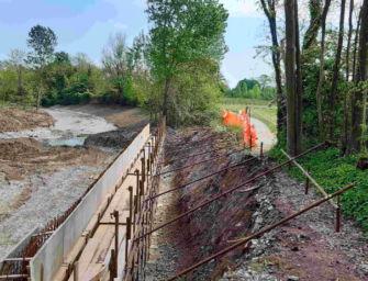 Nel Modenese conclusi gli interventi sul torrente Tiepido per il ripristino dell'efficienza idraulica