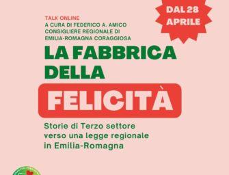 """Terzo settore, Amico (Emilia-Romagna Coraggiosa) lancia il tour virtuale """"La fabbrica della felicità"""""""