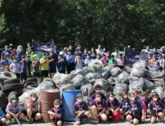 Liberare il Po dalla plastica, grande partecipazione a Guastalla