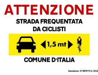 """A Guastalla """"Io rispetto il ciclista"""""""