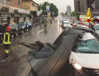 Nubifragio a Bologna, paura e danni