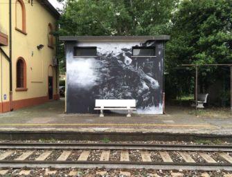 Strage Bologna, un murale in stazione Classe