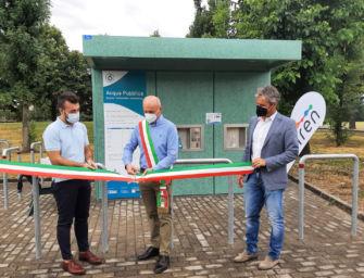 A Salvaterra inaugurato il nuovo distributore di acqua pubblica di Iren