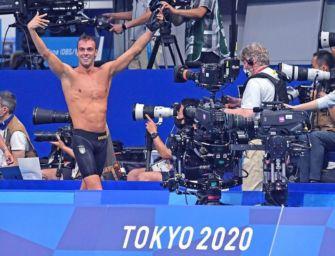 Olimpiadi, medaglia d'argento per Gregorio Paltrinieri negli 800 metri stile libero
