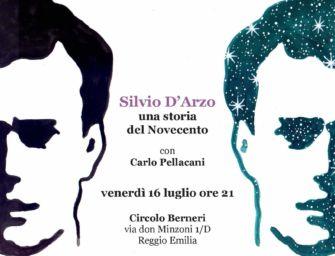 """Venerdì 16 luglio al circolo Berneri di Reggio """"Silvio D'Arzo. Una storia del Novecento"""""""