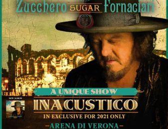 """Il 24 e 25 settembre Zucchero all'Arena di Verona con due concerti di """"InAcustico"""""""