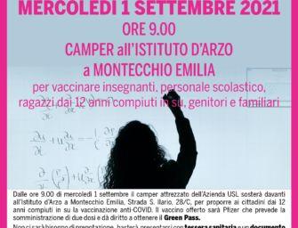 Reggio. Camper vaccinale Asl nelle principali sedi scolastiche della provincia