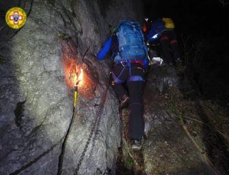 Padre e due figli rimangono bloccati sulla ferrata di Badolo: salvati dal Soccorso alpino
