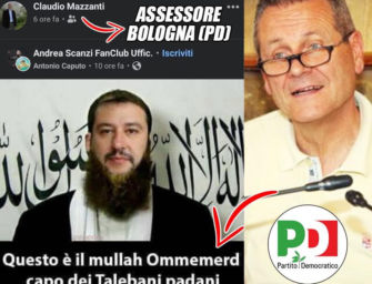 """L'assessore Pd di Bologna Mazzanti pubblica un fotomontaggio di Salvini """"talebano"""": scoppia la polemica"""