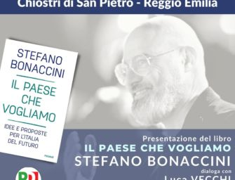Lunedì la presentazione del libro di Stefano Bonaccini a Reggio Emilia