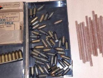A Baiso ritrovati in un casale oltre 17 kg di esplosivo bellico e munizioni per moschetto